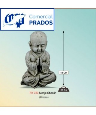 Figura de jardin Monje Shaolin fabricada en piedra artificial