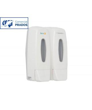 Dosificador de jabón doble 2 x 0,4l. abs blanco.