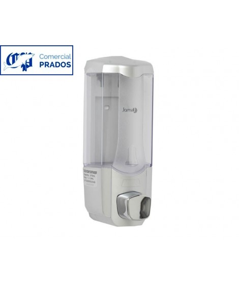 Dosificador de jabón. 0,4l. cromado/abs transparente.