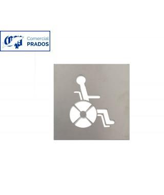 Pictograma jami aseo discapacitados. inox.