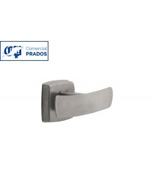 Percha doble. inox. satinado.