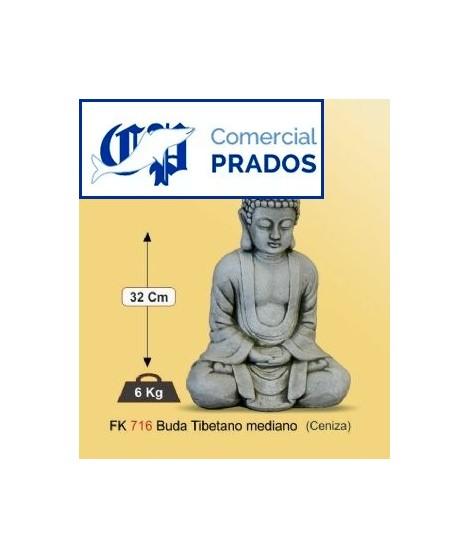 Figura de jardin Buda tibetano mediano fabricada en piedra artificial
