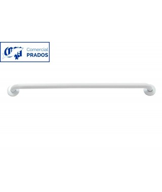 Barra recta de 90 cm. epoxi blanco.