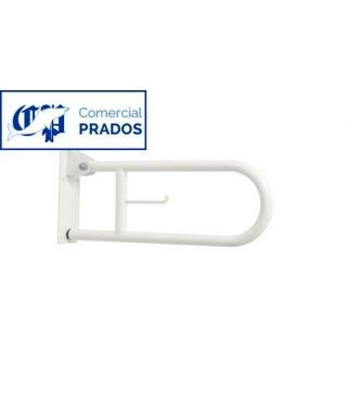 Barra abatible 60 cm acero epoxi blanco