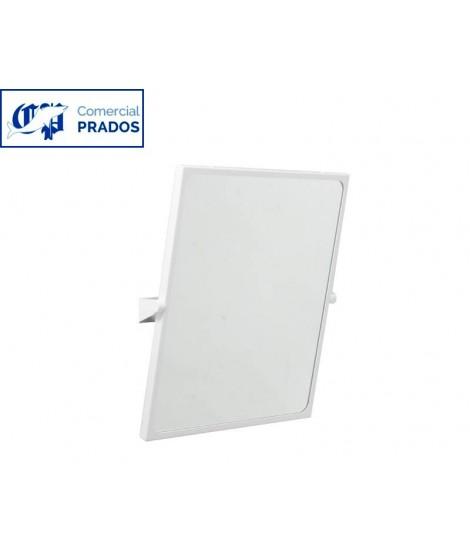 Espejo reclinable. blanco. 70x60 cm
