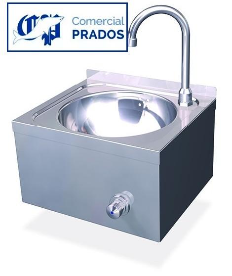 Lavamanos pulsador de rodilla. agua fria. inox.