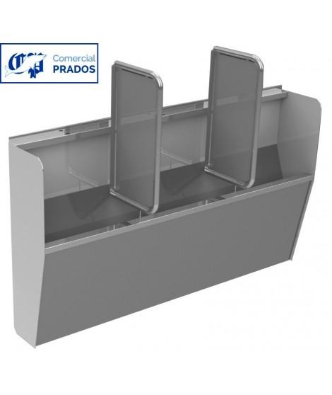 Urinario colectivo 1,2 m. satinado. sin separador