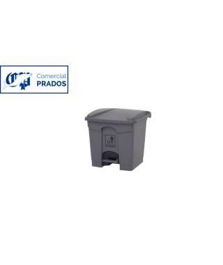 Papelera pedal 30 lt. gris.