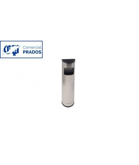 Papelera ceniciero semicircular 13 lt. inox.brillo