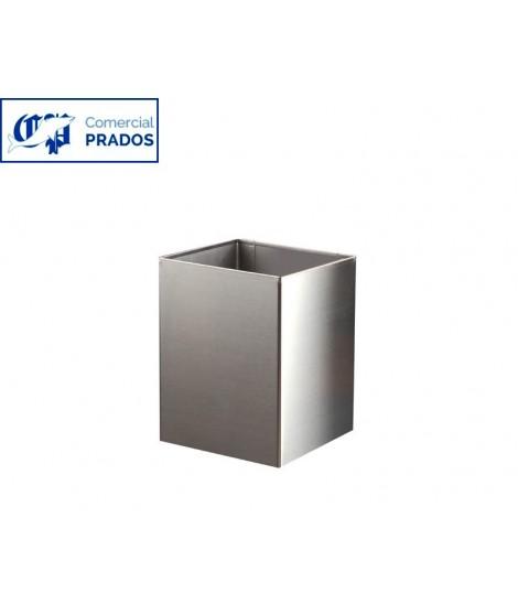 Papelera cuadrada 10 lt. brillo. pared o suelo