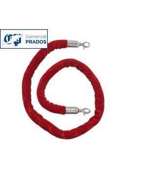 Cordón color rojo 1.5 metro para pie poste cónico.