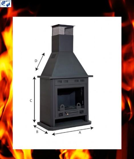 Chimenea estufa vista de le a barata fv oferta super for Precios chimeneas lena