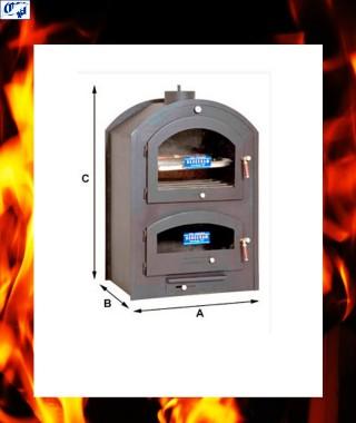 Horno metalico de leña chapa de acero mod. MP-2