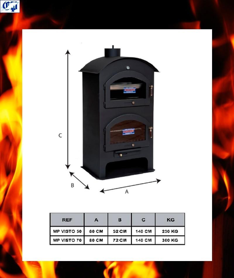 Horno metalico de le a visto modelo mp 50 comercial prados - Modelos de hornos de lena ...