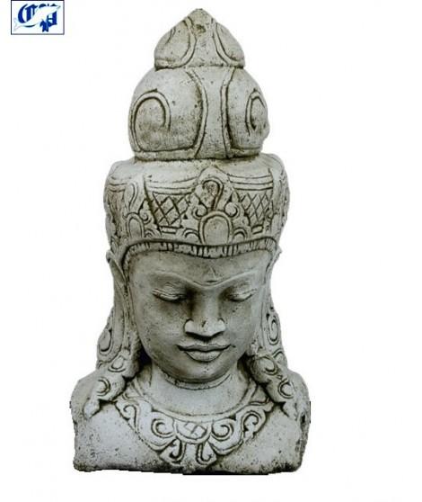 Figura de jardin Cabeza oriental fabricada en piedra artificial