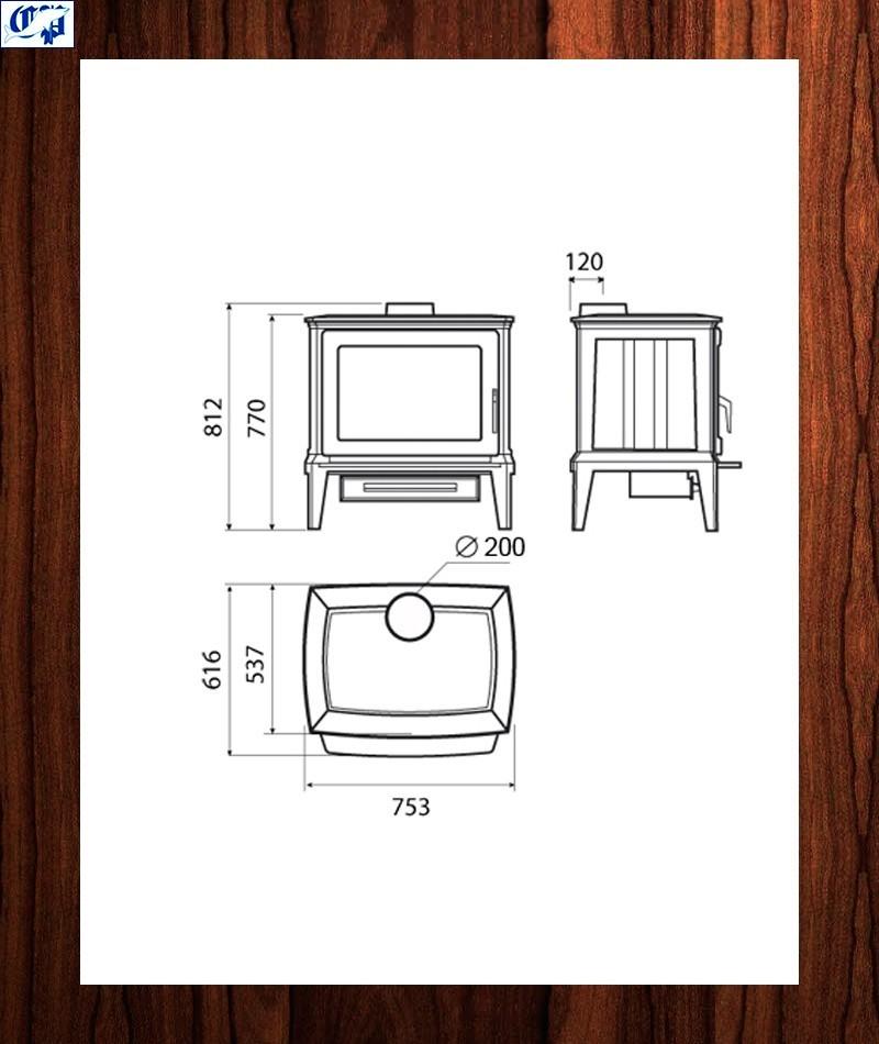 Estufa de hierro fundido hergom e 30 l 2003071 - Estufas de lena de hierro ...