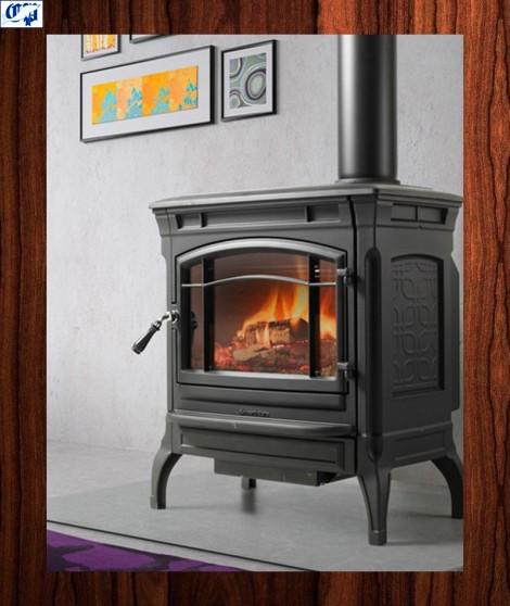 Estufa de leña SHELBURNE  pintada negra - 207400 - HERGOM