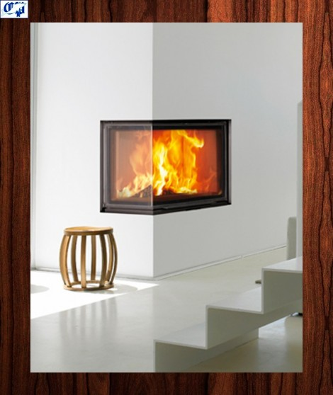 Hogar chimenea insertable de leña ECK 2020110 - hergom