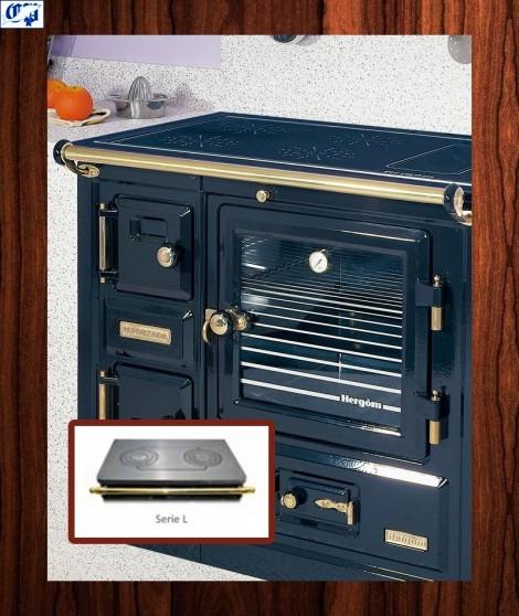 Cocina puerta de cristal serie tbn mod 9 le a encimera for Cocinas de lena hergom precios