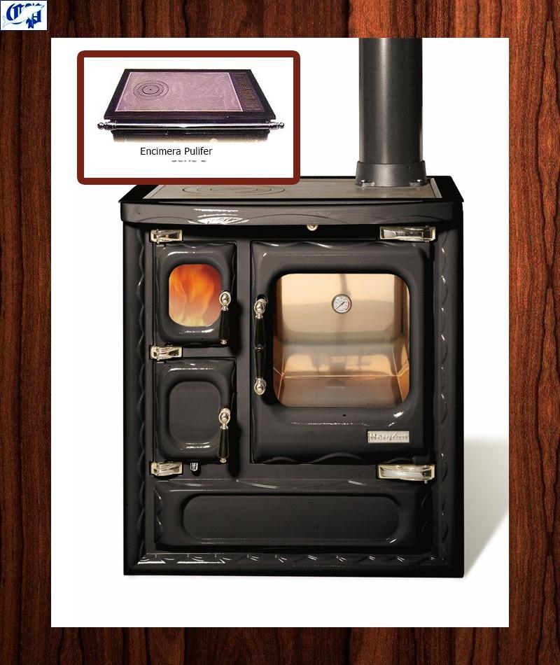 Cocina color negro modelo cerrado deva ii 75 hergom - Cocinas bilbainas de lena ...