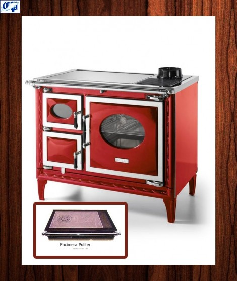 Cocina le a nansa ii hergom 516374 color burdeos - Cocinas color burdeos ...