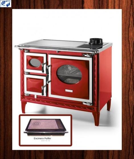 Cocina leña NANSA II Hergom - 516374, color burdeos