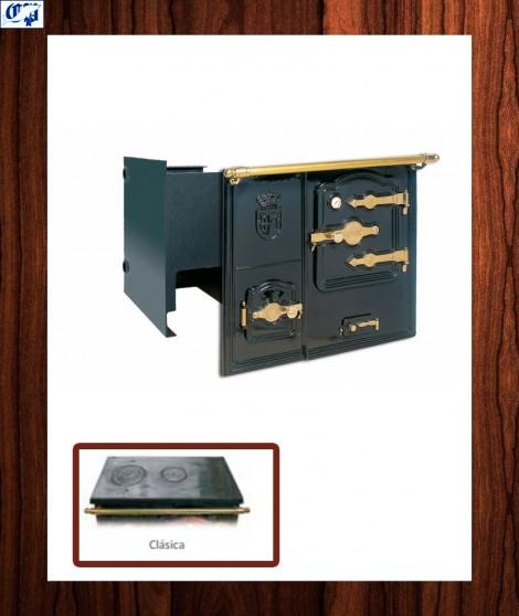 Cocina Calefactora carbón TB-7-CAO ABIERTA Encimera Clásica Hergom - 737010B