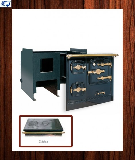 Cocina TB-7-CA obra carbón y leña - encimera clásica  Hergom - 717200
