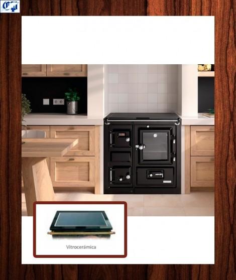 Cocina con encimera practicable saja 7 calefactora hergom for Cocina calefactora hergom precio
