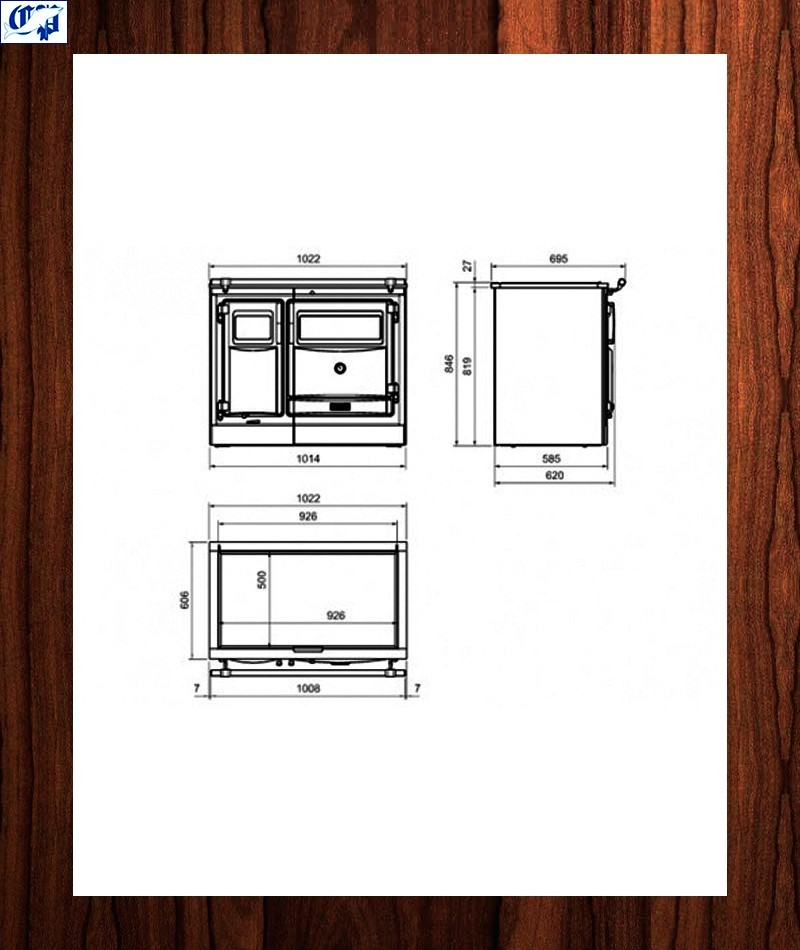 Cocina calefactora vitro practicable pas hergom 560050 - Hergom cocinas calefactoras ...