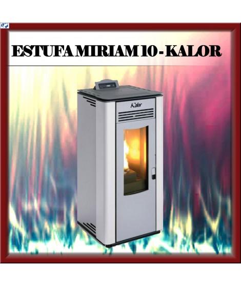 Estufa pellets mod. MIRIAM 10 KALOR, color blanco