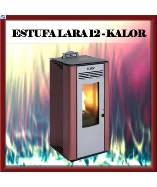 Estufa pellets mod. LARA 12 KALOR, color blanco