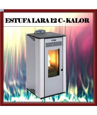 Estufa pellets canalizable mod. LARA 12 C KALOR, color blanco