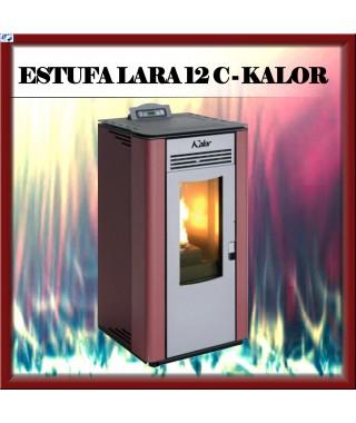 Estufa pellets canalizable mod. LARA 12 C KALOR, color burdeos
