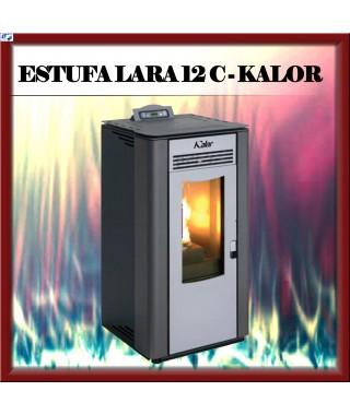 Estufa pellets canalizable mod. LARA 12 C KALOR, color negro