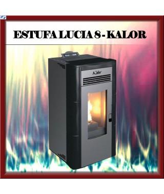 Estufa pellets mod.LUCIA 8 KALOR, color negro