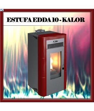 Estufa pellets mod.EDDA 10 KALOR, color burdeos