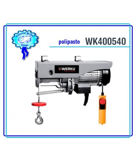 WK400540 Polipasto Cable 800kg 1350W