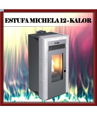 Estufa pellets mod.MICHELA 12 KALOR, color blanco