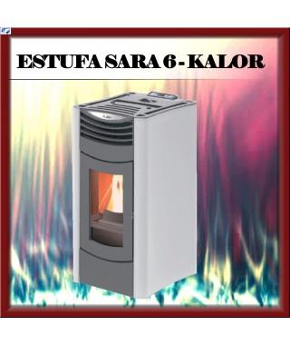 Estufa pellets mod.SARA 6 KALOR, color blanco