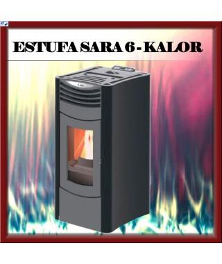 Estufa pellets mod.SARA 6 KALOR, color negro