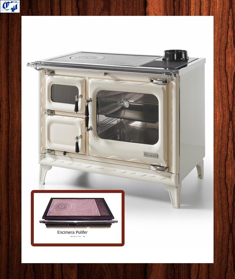 Cocina leña color crema modelo cerrado DEVA II 100 Hergom - 516477 ...