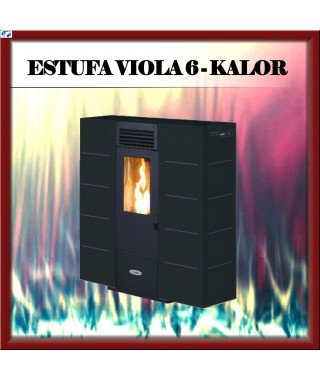 Estufa - chimenea pellets mod. VIOLA 6 KALOR, color negro