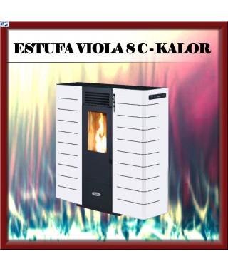 Estufa pellets canalizable mod VIOLA 8 C KALOR, color blanco