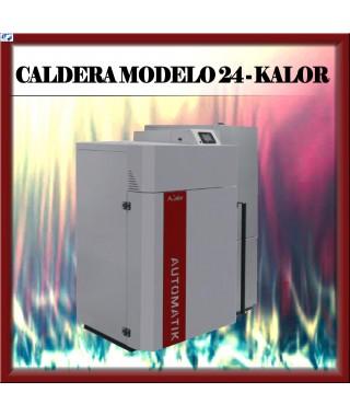 Caldera automática MODELO 24 Kalor, burdeos