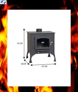 Estufa chimenea de leña rincón E-5R