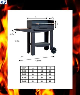 Barbacoa metalica para jardin mod. B-80 B