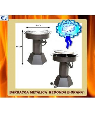 Barbacoa metalica con parrilla giratoria 70  B-GRANA1