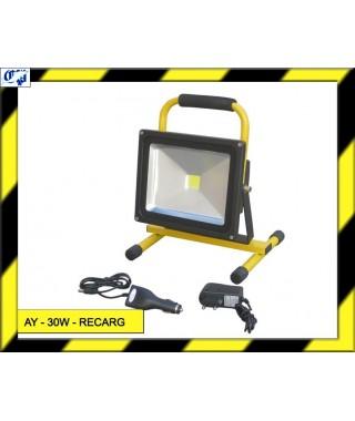 FOCO LED RECARGABLE - AY 30W - RECARG - AYERBE